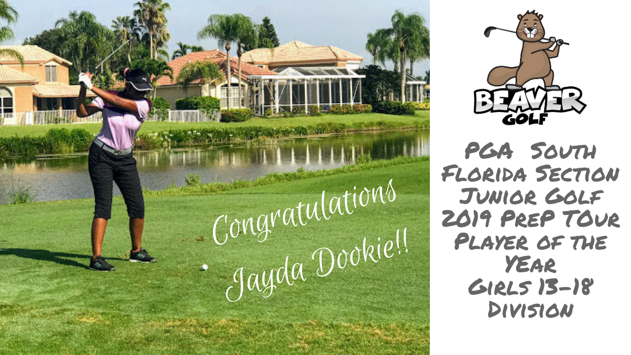 Glen Beaver Golf Student, Jayda Dookie, PGA Tour Player of the Year