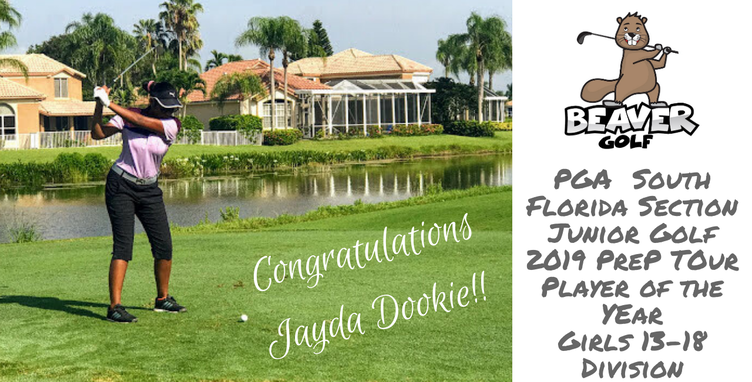 Beaver Golf Student Jayda Dookie, PGA South Florida 2019 Prep Tour Player of the Year