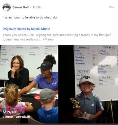 Coach Glen Beaver's students excel in golf tournaments.